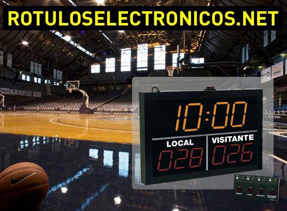 Marcadores electrónicos deportivos con led