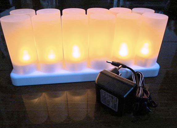 velas LED a baterí recargables