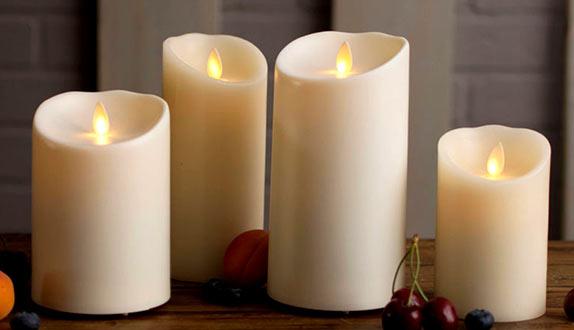 velas LED de efecto llama