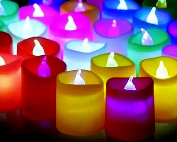 velas led de tamaños variados