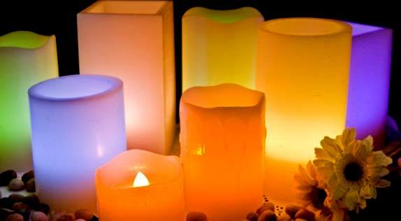 velas LED grandes y pequeñas