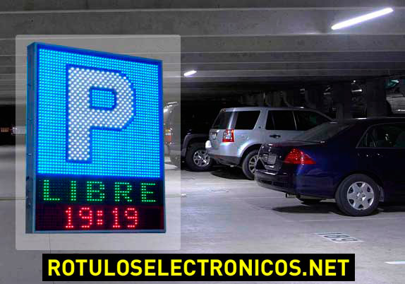 Rotulos luminosos para parkings y gasolineras