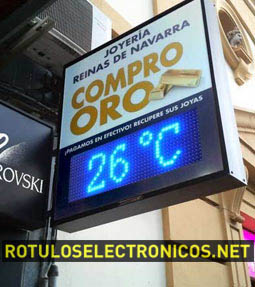 Carteles luminosos publicitarios con reloj-temperatura LED