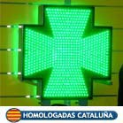Cruz de farmacia luminosa para Cataluña