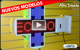 cruces para clinicas veterinarias con leds fullcolor