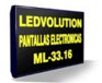 Cartel luminoso de leds multilinea (3 lineas)
