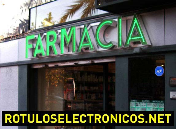 cartel de farmacia
