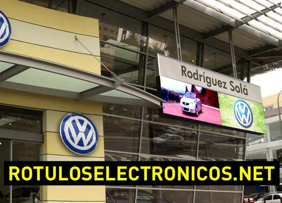 Letreros luminosos de leds con video real