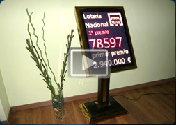 Oferta de displays para interiores de leds con atril