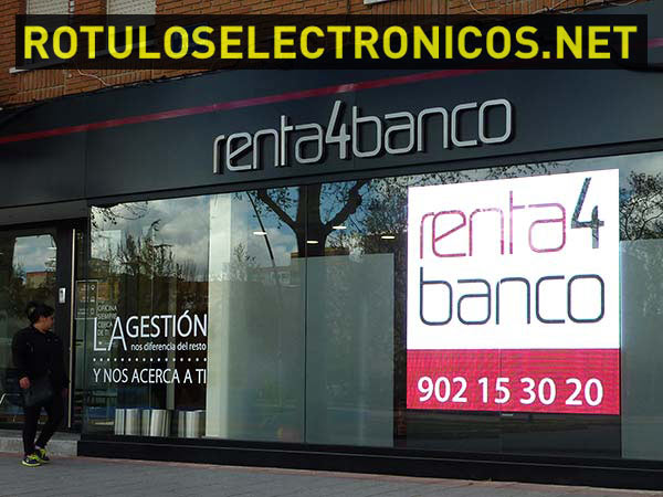 pantalla led Escaparate
