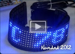 Pantalla lineal flexible de leds
