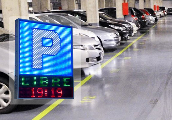 Pantallas luminosas de leds para parkings