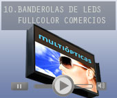 Proyectos de banderolas con video real