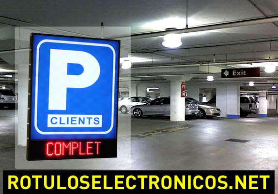 Rotulos de vinilo y leds para parking