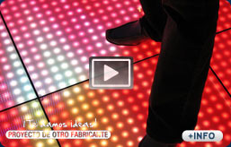 Suelos de leds con video real a todo color.