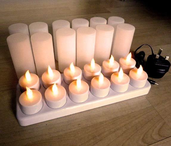 velas LED a pilas recargables