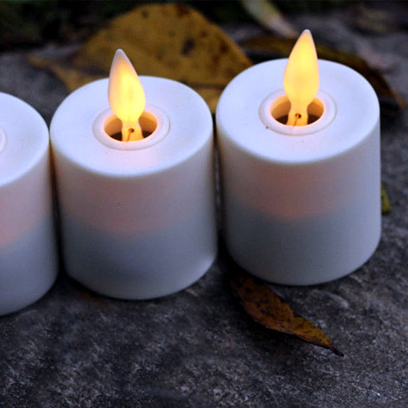 velas LED de efecto llama incandescente