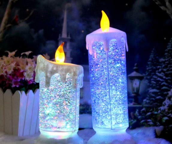 Elegantes Velas Led De Navidad - Velas-de-navidad