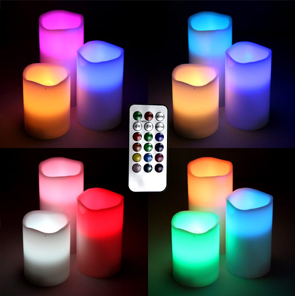 Velas LED decorativas