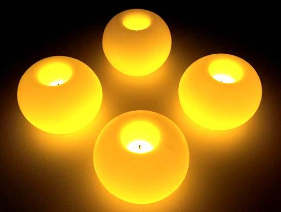 Velas LED formas
