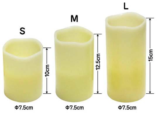 Velas LED de tamaños diferentes